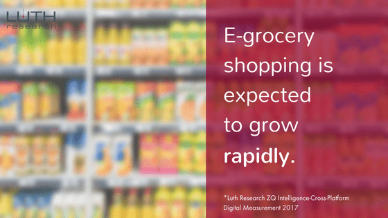 E-grocery shopping is expected to grow rapidly